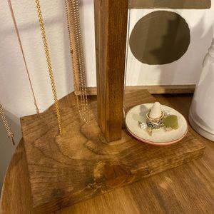Anthropologie Storage & Organization - Handmade Wooden Necklace Holder display